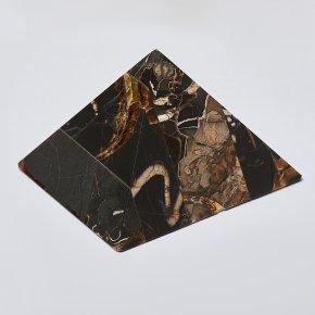 Пирамида симбирцит, окаменелость, пирит Россия 8х7,5 см