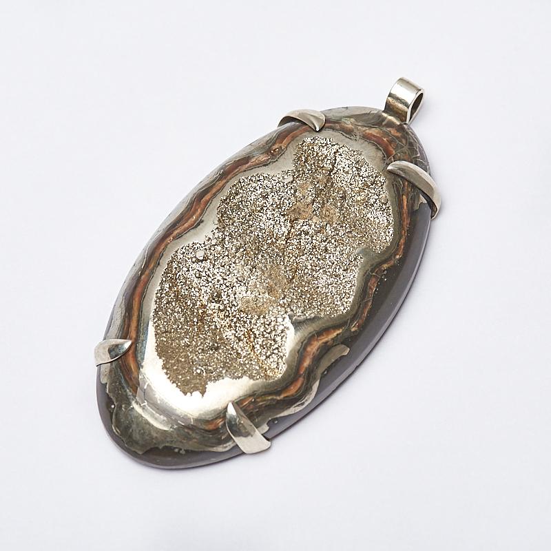 Кулон пирит, окаменелость (нейзильбер) 7 см