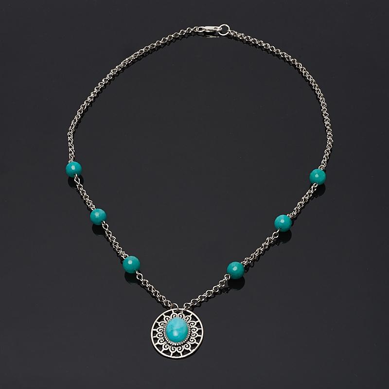 Колье амазонит 42 см (серебро 925 пр.) колье цепь other 925 925 sterling necklace