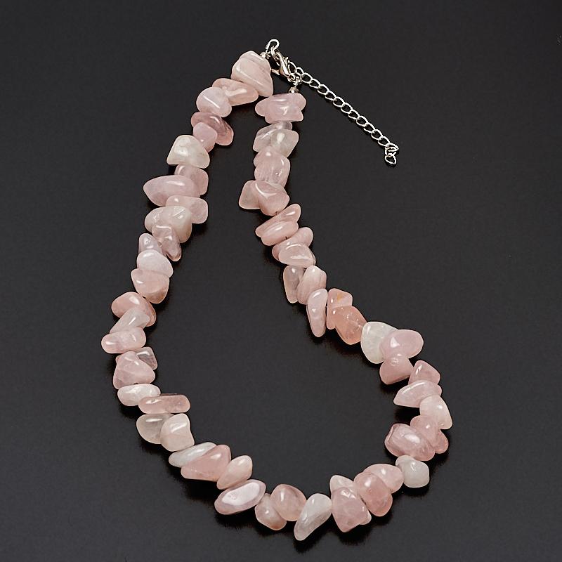 Бусы розовый кварц 45-52 см (биж. сплав) бусы розовый кварц 47 53 см биж сплав