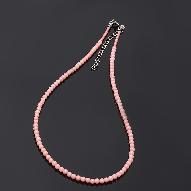 Бусы коралл розовый 46-51 см (биж. сплав) цена