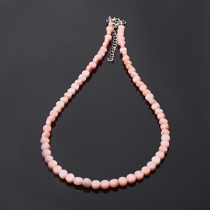 Бусы коралл розовый 6 мм 46-51 см (биж. сплав) авторские бусы коралл жемчуг хрусталь особенный день