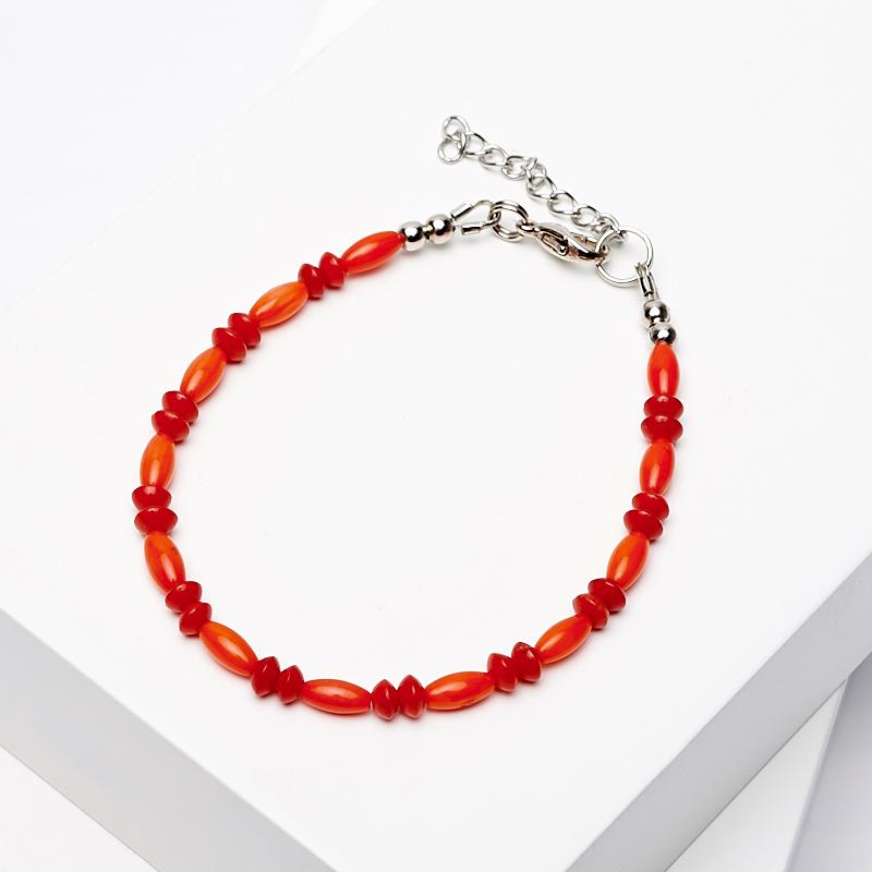 Браслет коралл оранжевый, красный 17-20 см (биж. сплав) u7 широкий браслет часов реального позолоченные моды мужчин украшения оптовой новой модной уникальный 1 5 см 20 см звено цепи браслеты