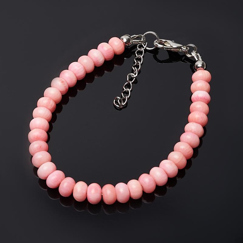 Браслет коралл розовый 6 мм 16-19 см (биж. сплав) бусы коралл розовый 6 мм 46 51 см биж сплав