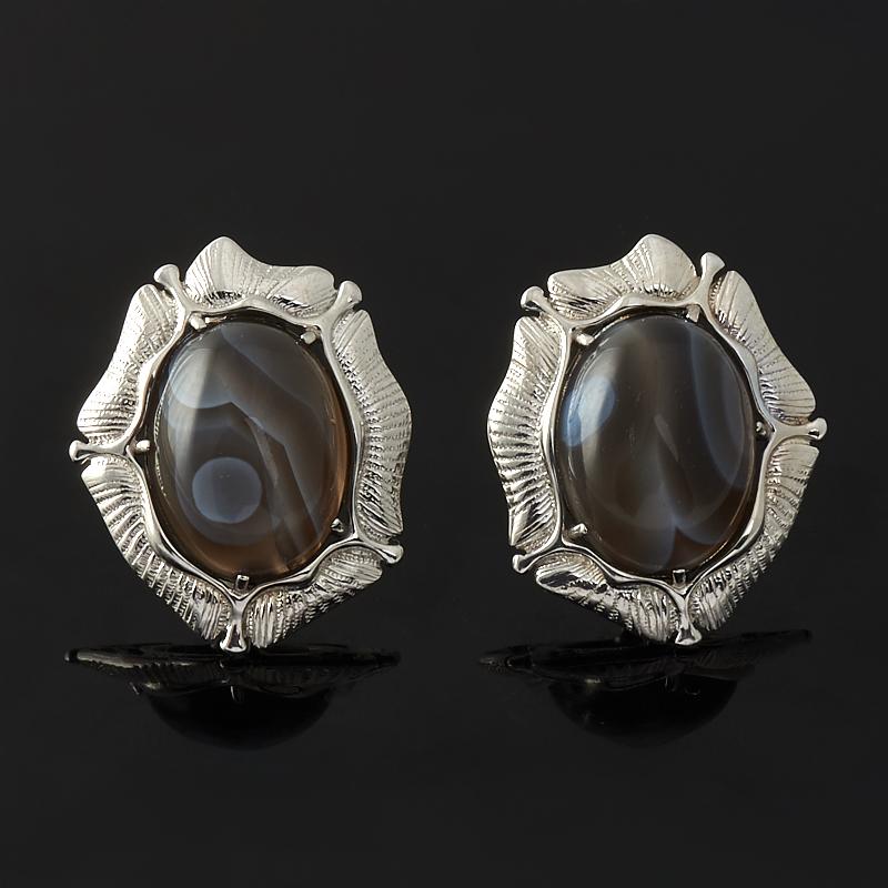 Фото - Серьги агат серый (серебро 925 пр.) кольцо агат серый серебро 925 пр размер 21 5