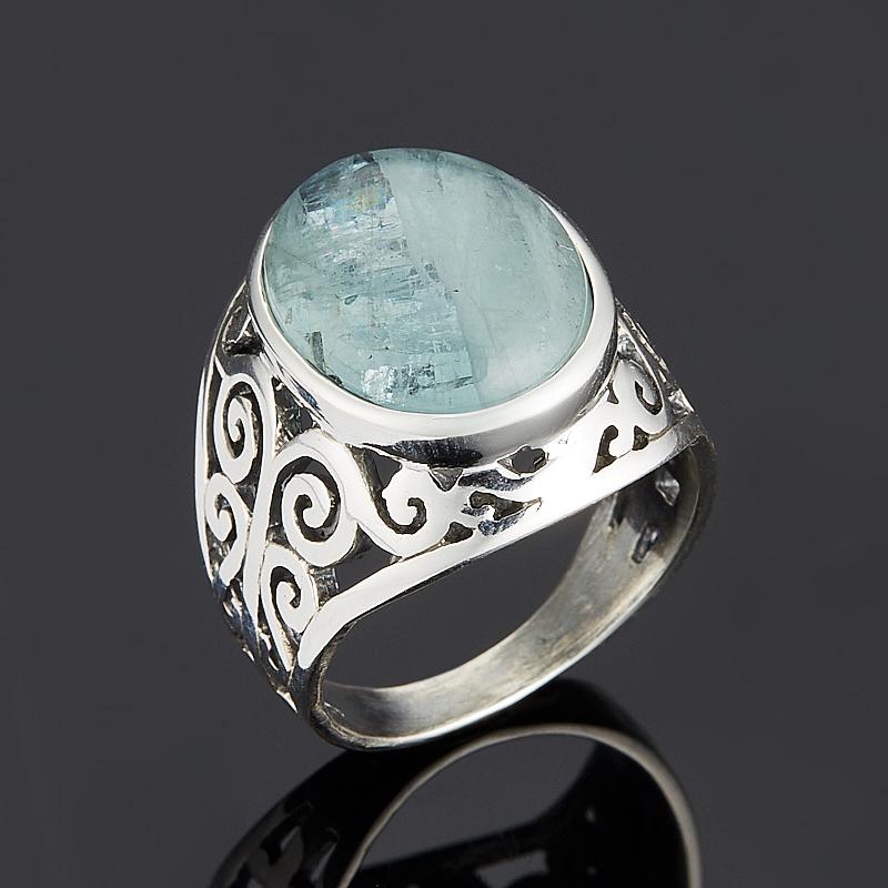 Кольцо аквамарин (серебро 925 пр.) размер 18 кольцо аквамарин серебро 925 пр позолота размер 18