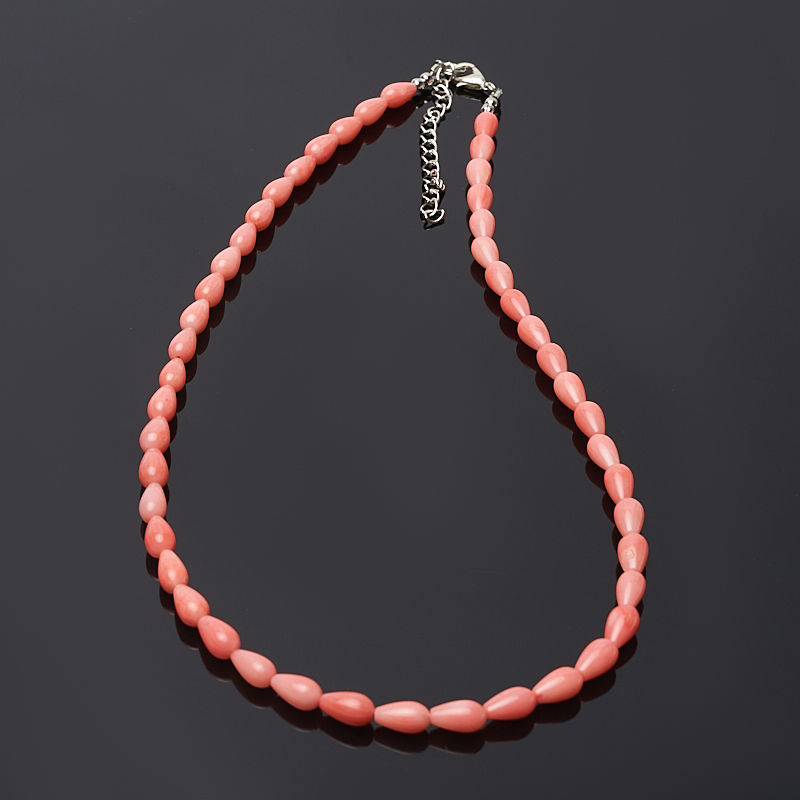 Бусы коралл розовый 45-51 см (биж. сплав) цена