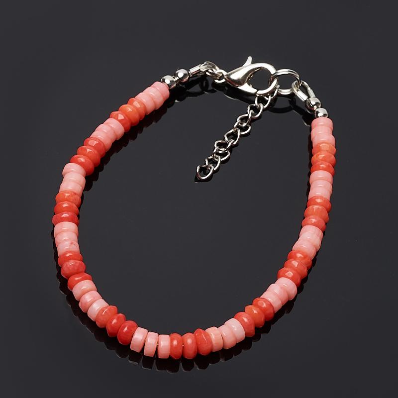 Браслет коралл красный, розовый 4 мм 16-19 см (биж. сплав) автомобиль siku бугатти eb 16 4 1 55 красный 1305