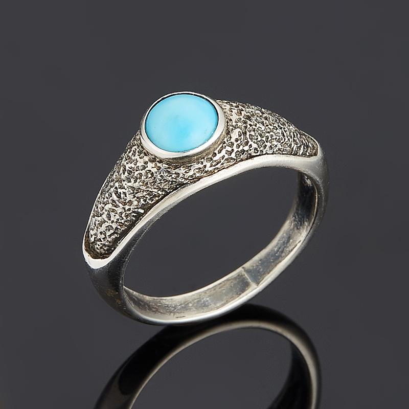 Кольцо бирюза (серебро 925 пр.) размер 17