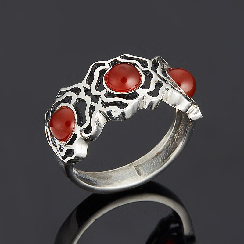 Кольцо сердолик (серебро 925 пр.) размер 18 кольцо art silver цвет антрацитовый кч2077 733 размер 18