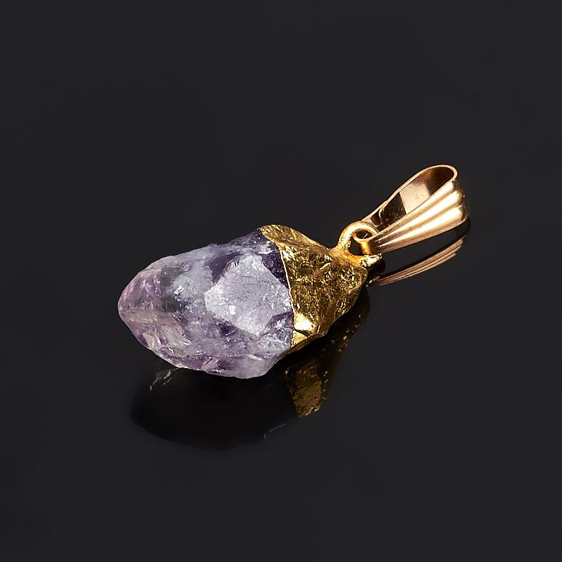 Кулон аметист Бразилия кристалл (биж. сплав) 2-3,5 см