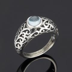 Кольцо топаз голубой Бразилия (серебро 925 пр.) размер 17