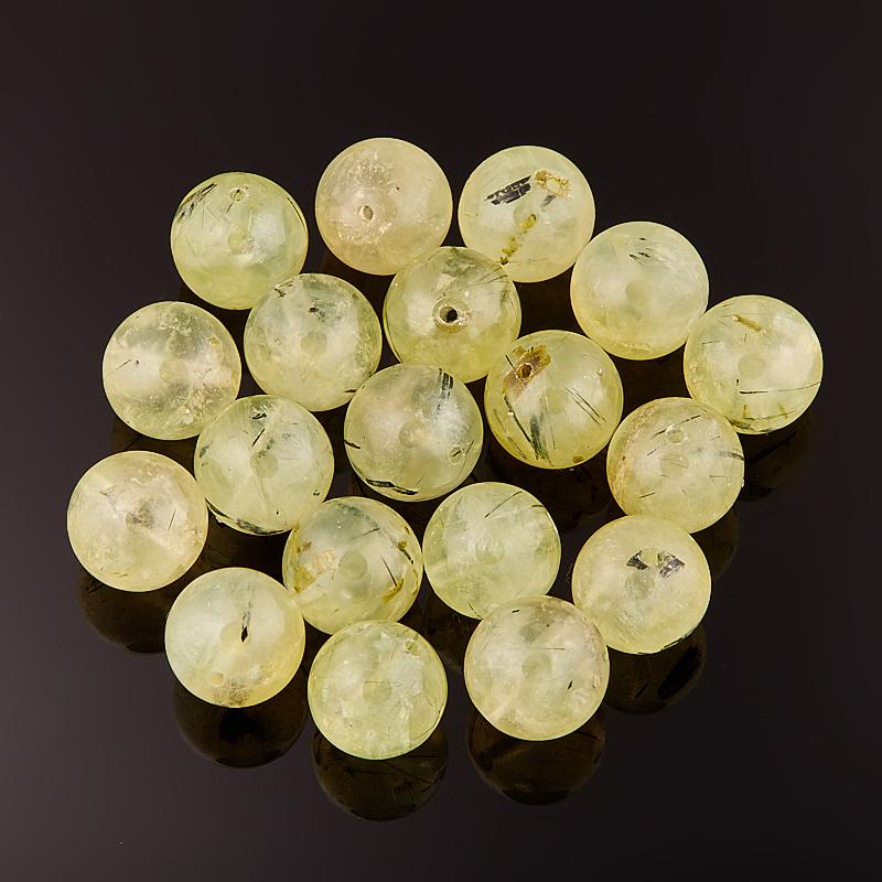 Бусина пренит шарик 9 мм (1 шт) бусина коралл розовый рис 4 5 12 мм 1 шт