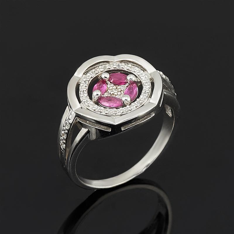 Кольцо рубин огранка (серебро 925 пр.) размер 18