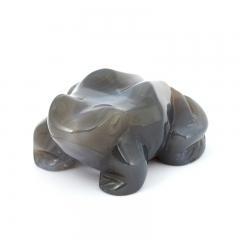 Лягушка агат серый Ботсвана 7,5 см
