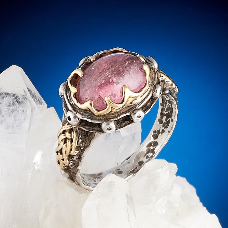 Кольцо турмалин розовый (рубеллит) (серебро 925 пр., позолота) размер 17,5 真彩(truecolor 8190彼岸花全针管中性笔芯0 35红色 20支 盒 2盒