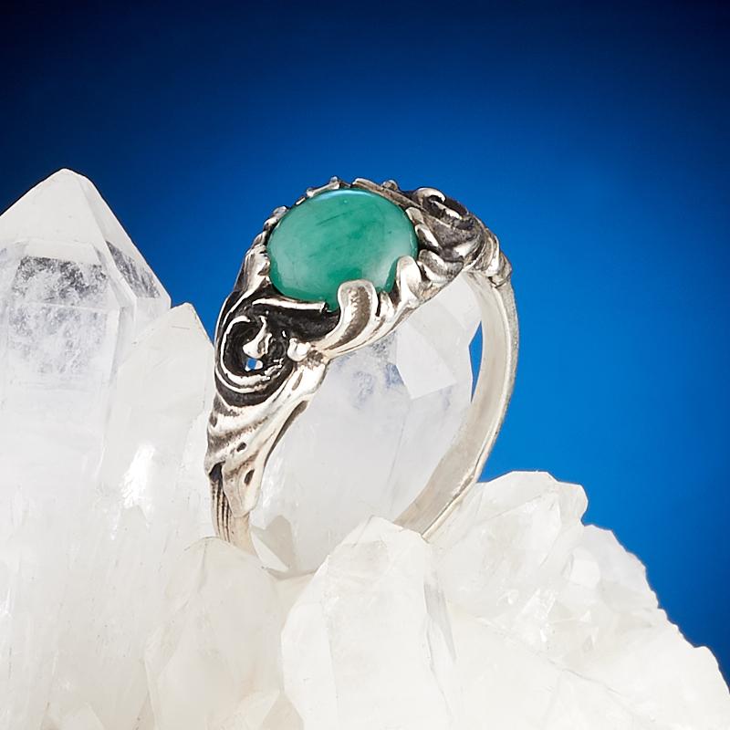 Кольцо берилл  (серебро 925 пр.) размер 17