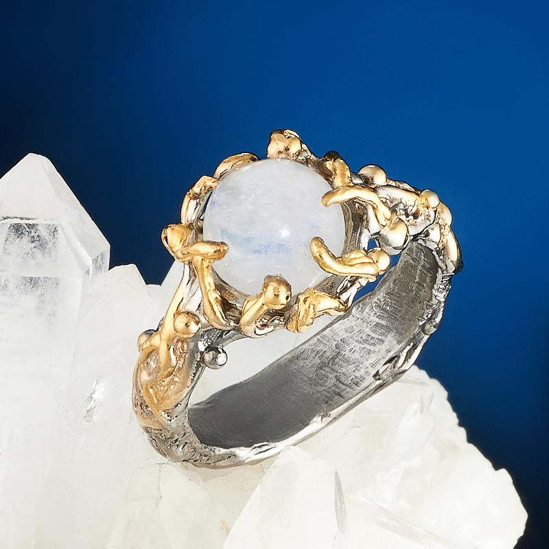 Кольцо лунный камень (серебро 925 пр., позолота) размер 17,5 кольцо лунный камень серебро 925 пр размер 17 5