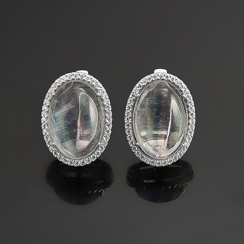 Серьги флюорит (серебро 925 пр.) серьги агат серый серебро 925 пр