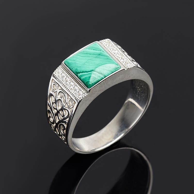 Кольцо малахит (серебро 925 пр.) размер 18,5 кольца колечки кольцо красотка им малахит