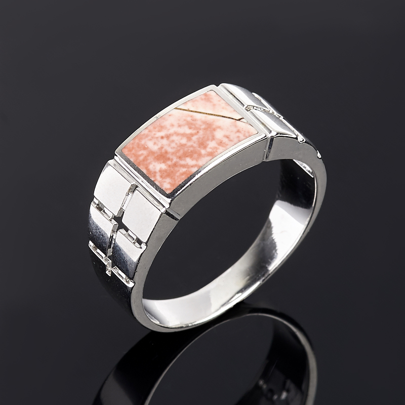 Кольцо яшма (серебро 925 пр.) размер 21