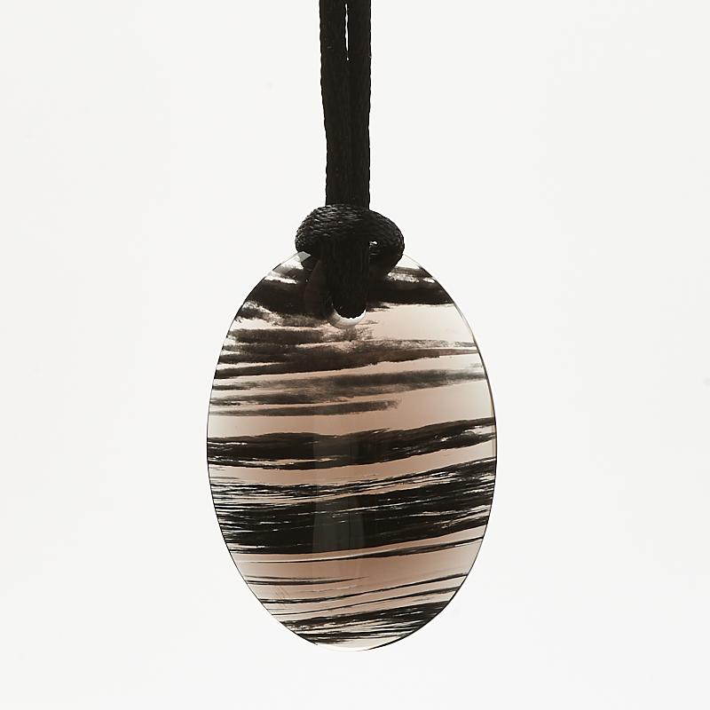 Кулон обсидиан черный овал 2,8х4 см цена