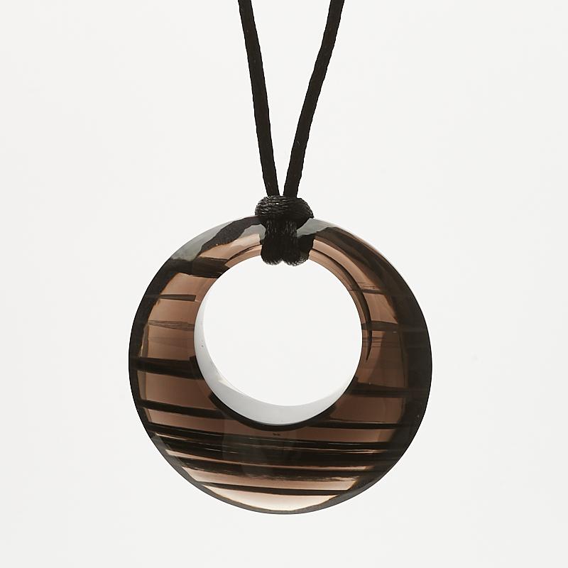 Кулон обсидиан черный  круг 4 см