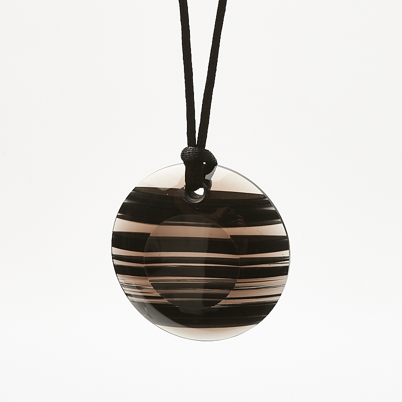 Кулон обсидиан черный круг 4 см цена
