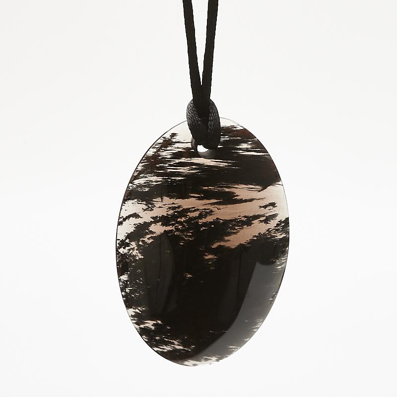 Кулон обсидиан черный овал 4х6 см цена