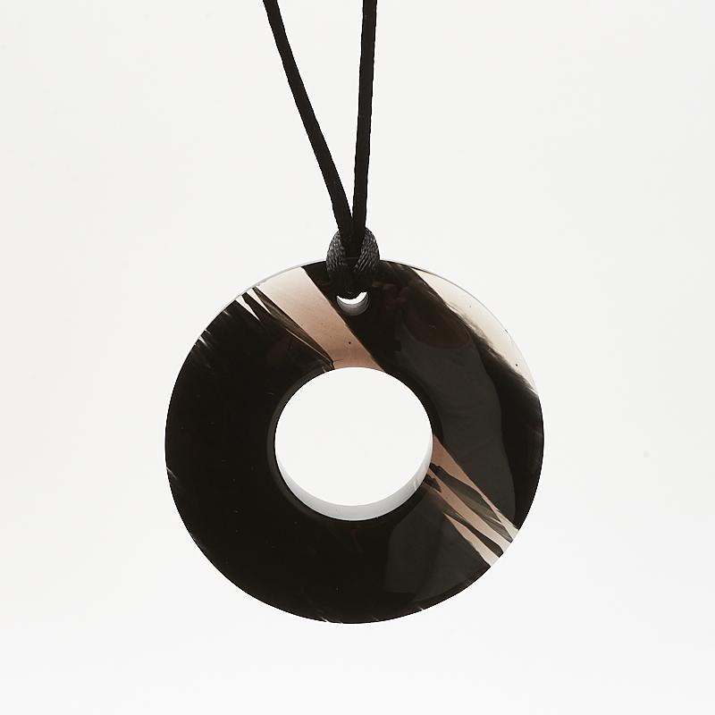 Кулон обсидиан прозрачный круг 5,5 см