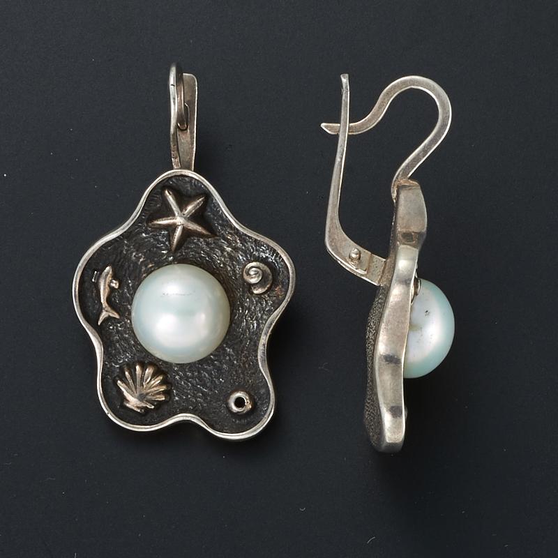 Серьги жемчуг белый (серебро 925 пр.) kaiya si gaia spearl925 серебро пресноводные жемчужные серьги белый жемчуг серьги серьги простой женщины