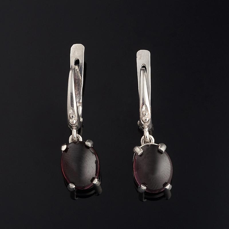 Серьги гранат (серебро 925 пр.) серьги агат серый серебро 925 пр