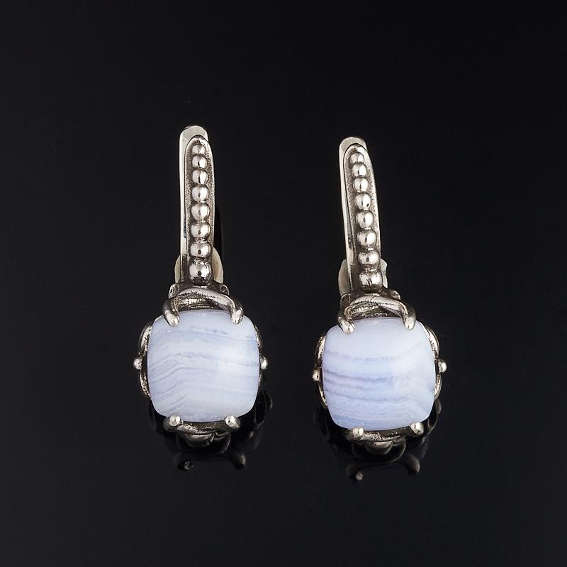 Серьги агат голубой (серебро 925 пр.) серьги агат эвридика