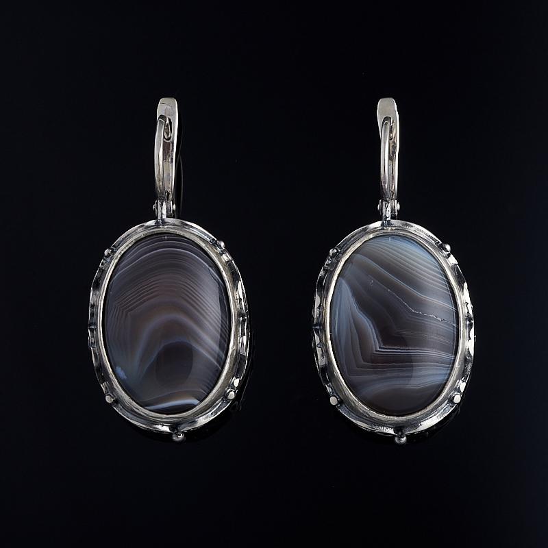 Серьги агат серый (серебро 925 пр.) серьги агат эвридика