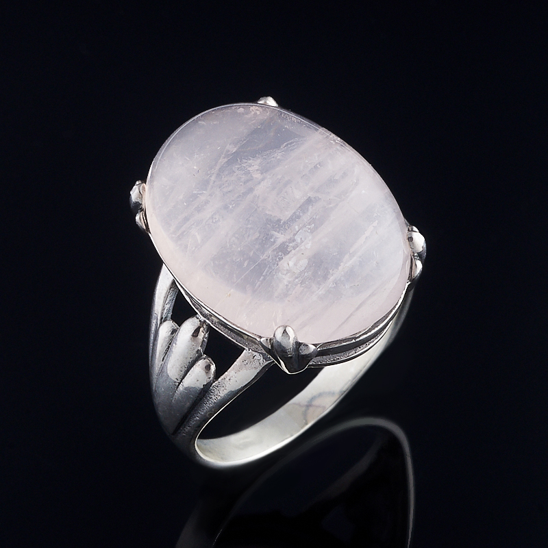Кольцо розовый кварц (серебро 925 пр.) размер 18,5 бусики колечки кольцо лаватера розовый кварц арт ск 4986