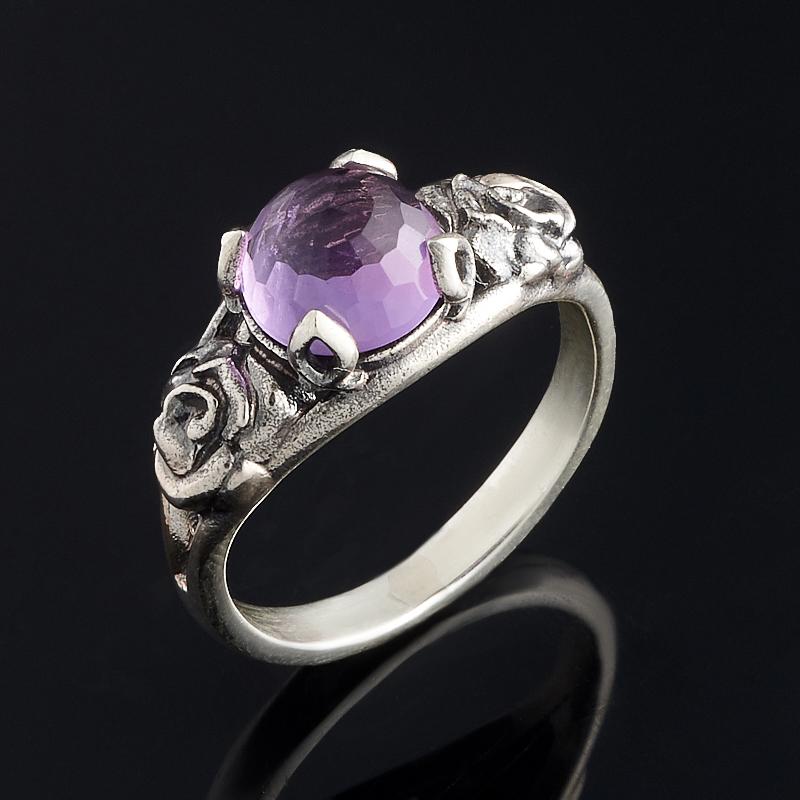 Кольцо аметист огранка (серебро 925 пр.) размер 18