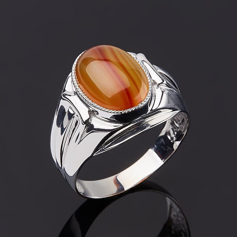 Кольцо агат красный (серебро 925 пр.) размер 19,5 кольцо агат черный серебро 925 пр размер 22