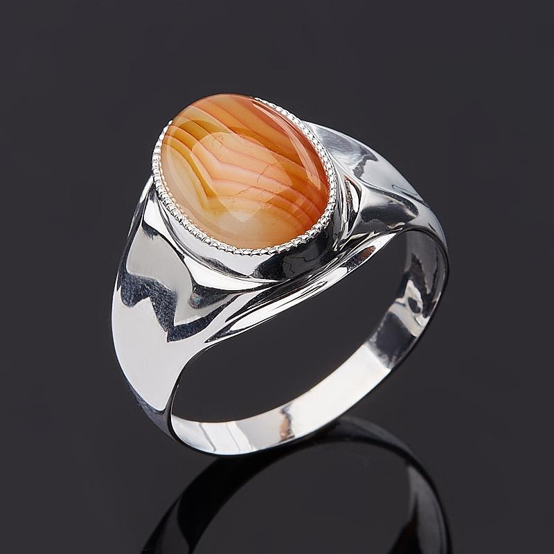 Кольцо агат красный (серебро 925 пр.) размер 20,5