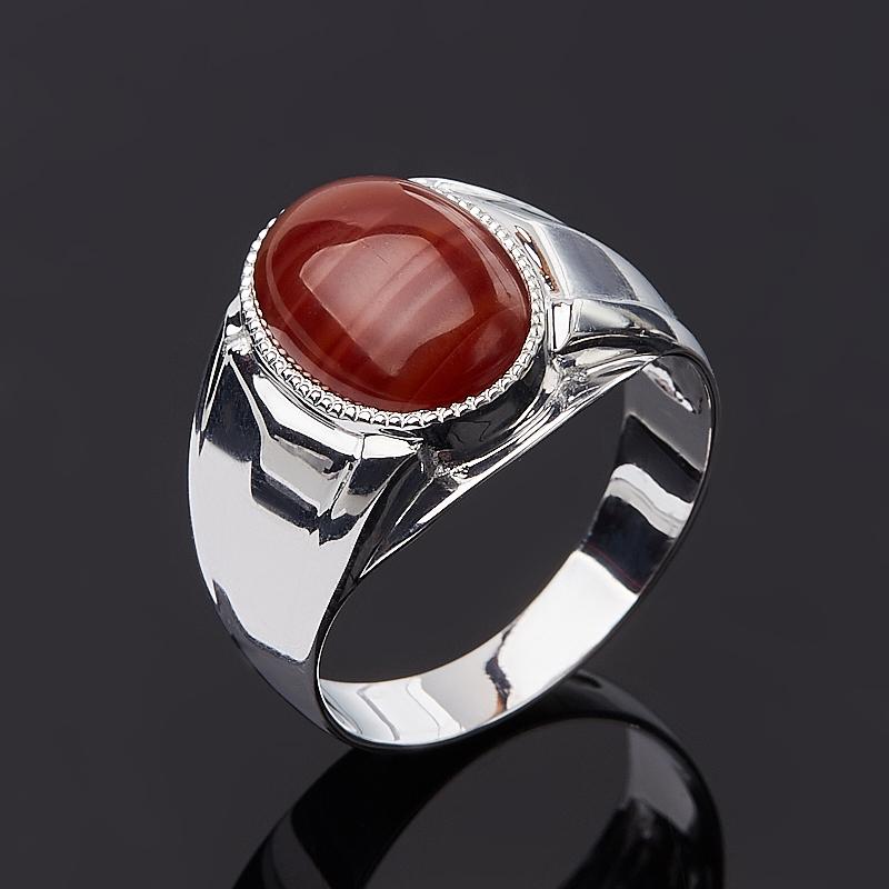 Кольцо агат красный (серебро 925 пр.) размер 19,5