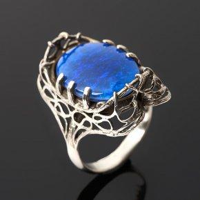 Кольцо опал благородный синий (триплет) Австралия (серебро 925 пр.) размер 18