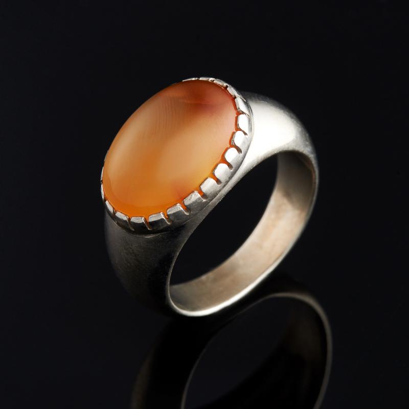 Кольцо сердолик (серебро 925 пр.) размер 17