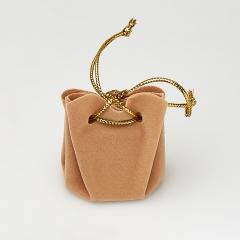 Подарочная упаковка универсальная (мешочек объемный песочный) 35х35х40 мм