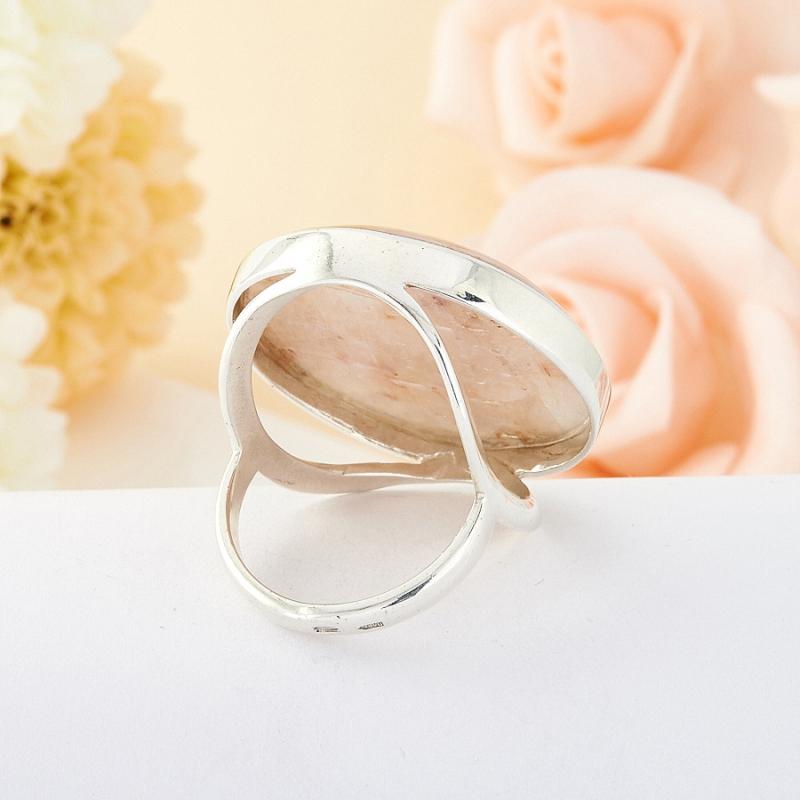 Кольцо беломорит Россия (серебро 925 пр.)  размер 19,5