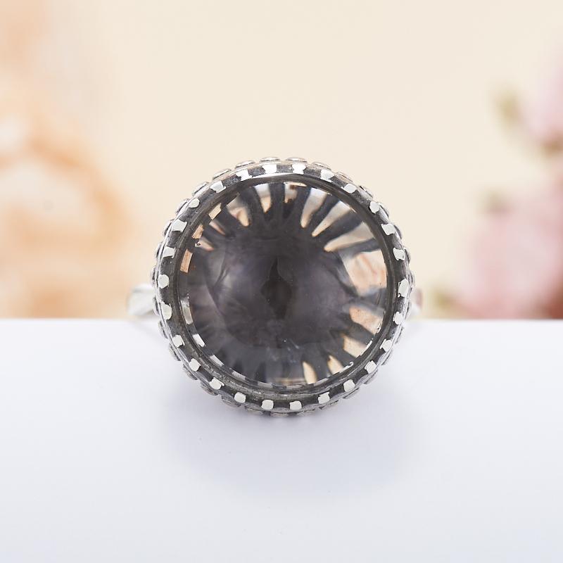 Кольцо раухтопаз  (серебро 925 пр.)  размер 17,5