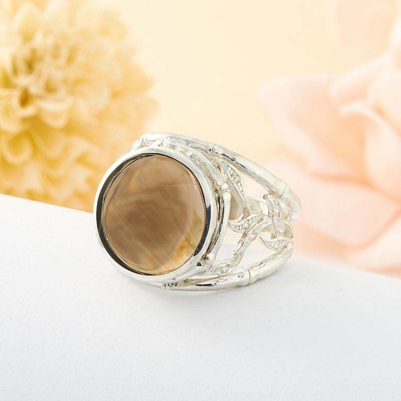 Кольцо раухтопаз  (серебро) размер 18