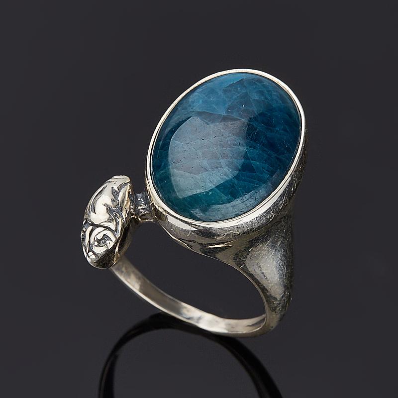 Кольцо апатит синий Бразилия (серебро 925 пр.) размер 22