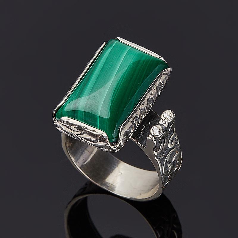 Кольцо малахит (серебро 925 пр.) размер 19 кольцо амазонит серебро 925 пр размер 19