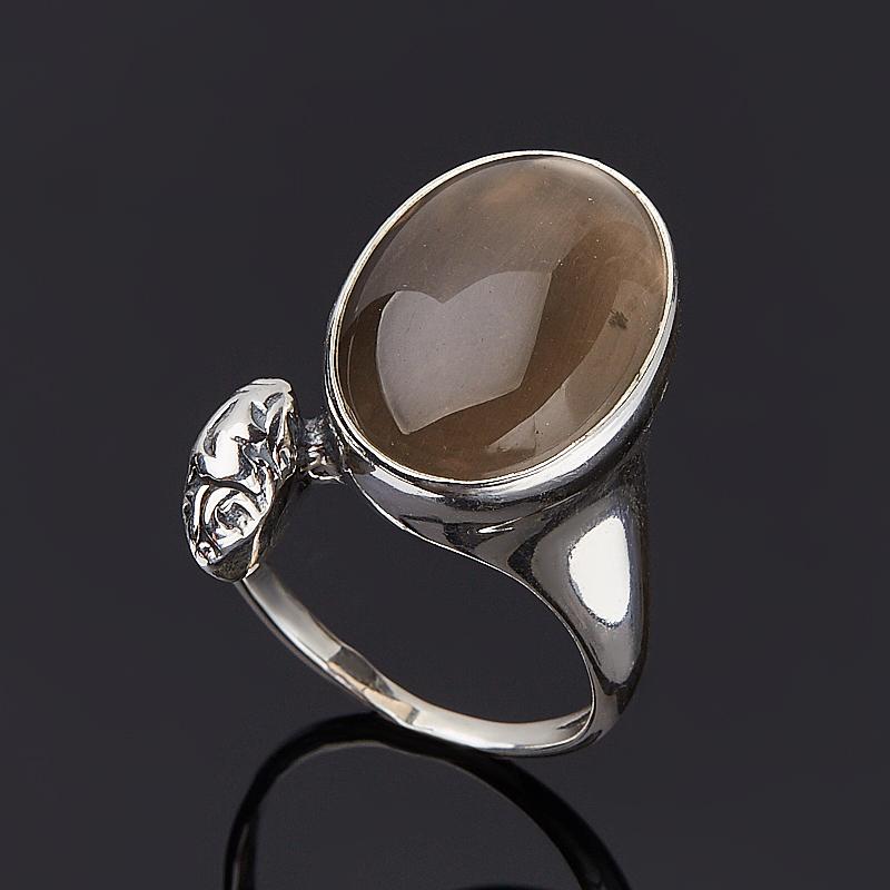 Кольцо раухтопаз (серебро 925 пр.) размер 18,5