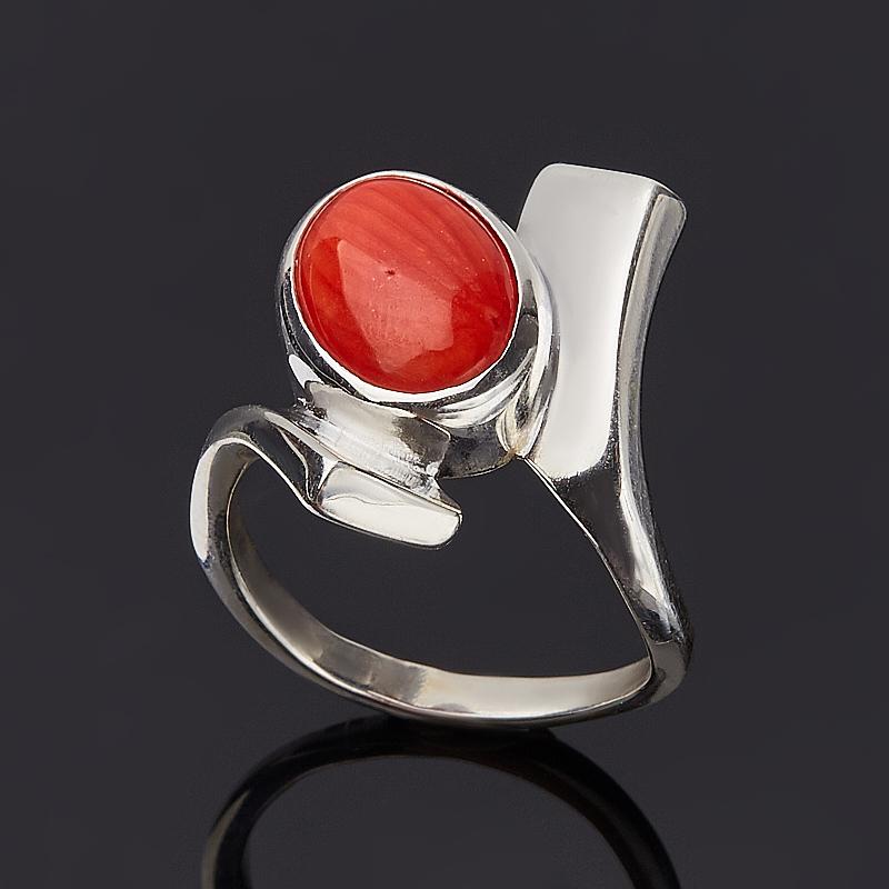 Кольцо коралл красный (серебро 925 пр.) размер 19 кольца колечки кольцо аскон им коралл
