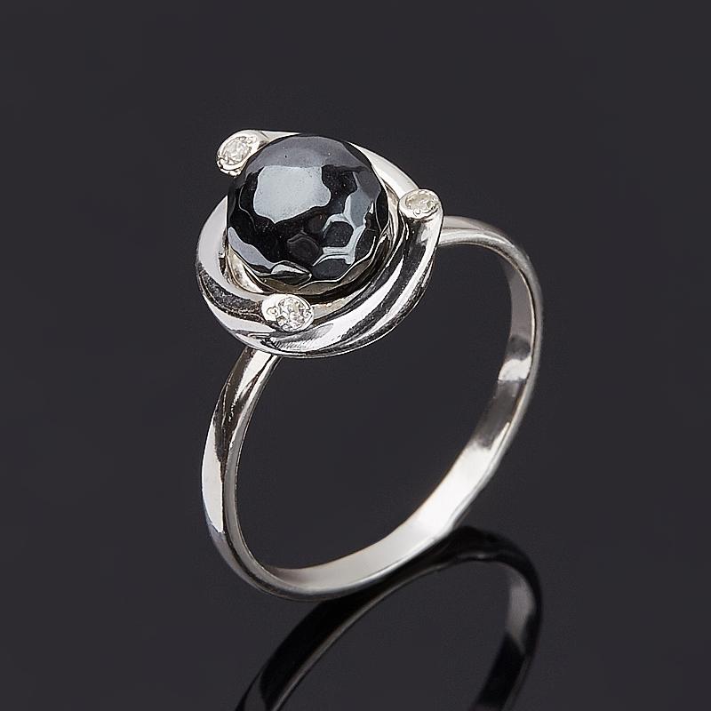 Кольцо гематит Бразилия огранка (серебро 925 пр.) размер 22